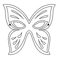 Butterfly Mask Coloring Page