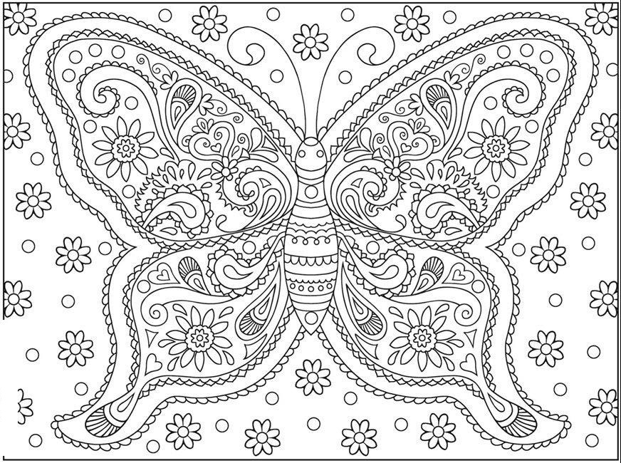 Butterfly Simple But Hard Coloring Page