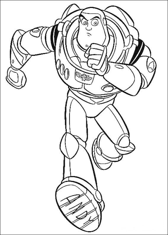 Buzz is running Coloring Page
