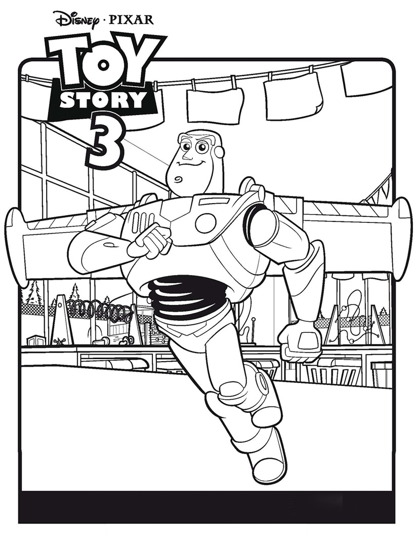 Buzz Lightyear with his wings Coloring Pages