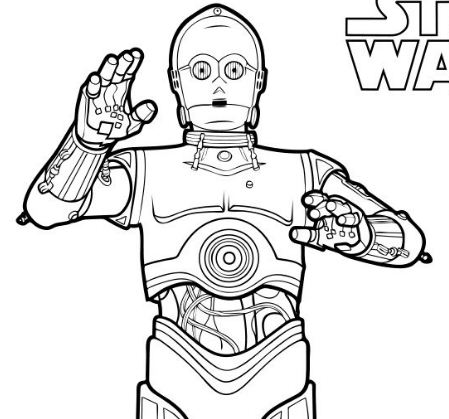 C-3po Coloring Page