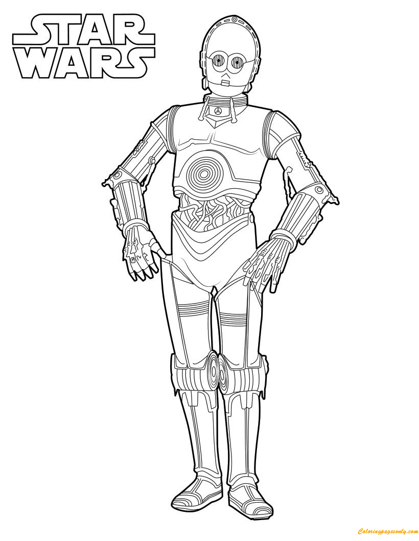 C3po Coloring Page Free Coloring Pages Online