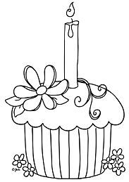 Cake and candles Coloring Page
