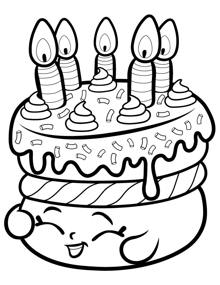 Cake Wishes Shopkin Season 1 Coloring Page
