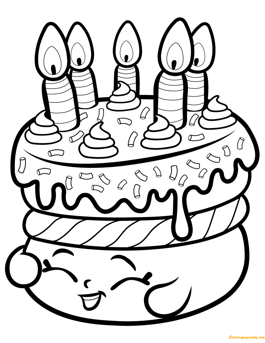 cake pop coloring pages - photo#20