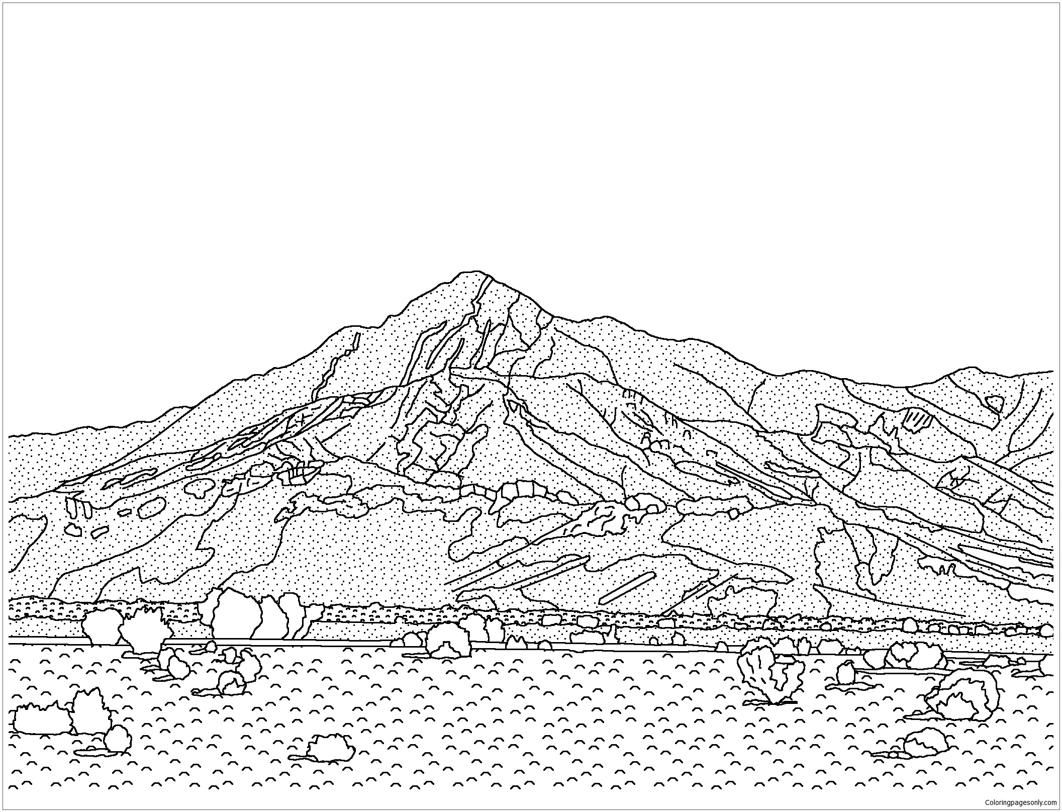 California Desert Coloring Page