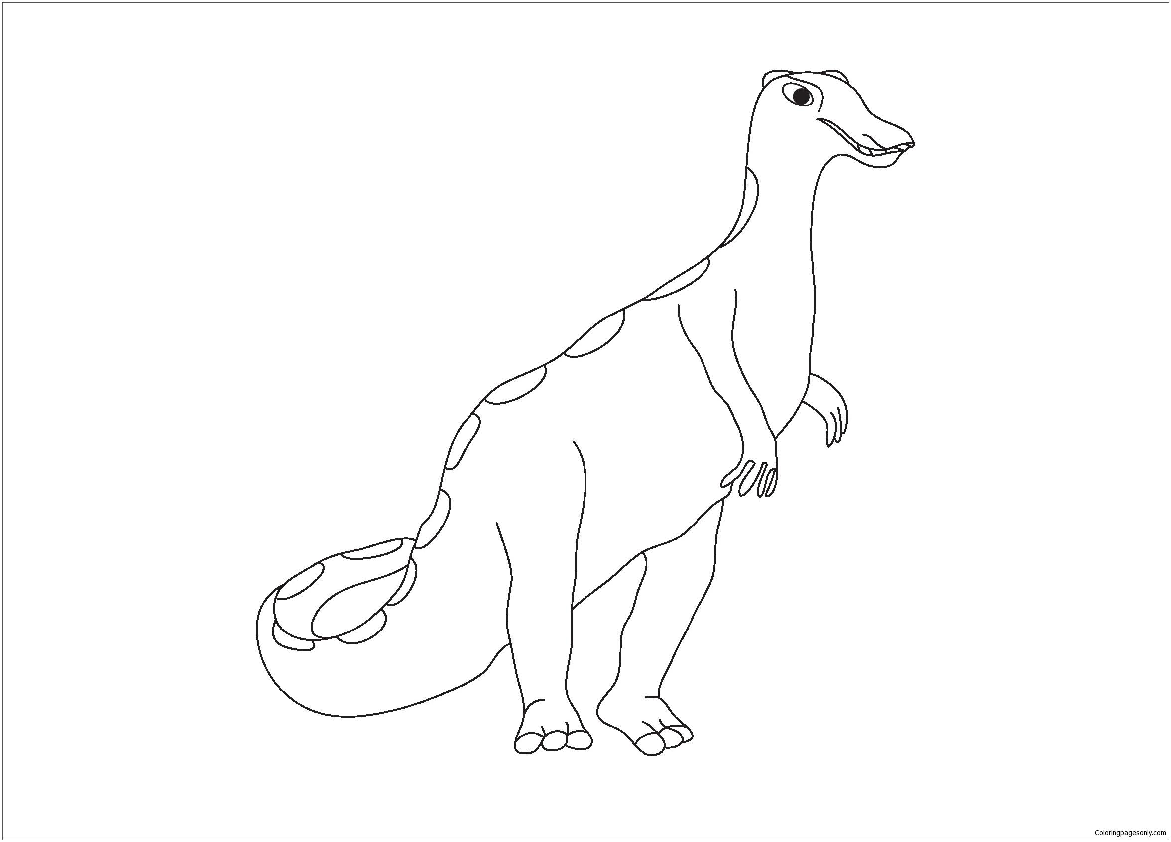 Camptosaurus Dinosaur 2 Coloring Page
