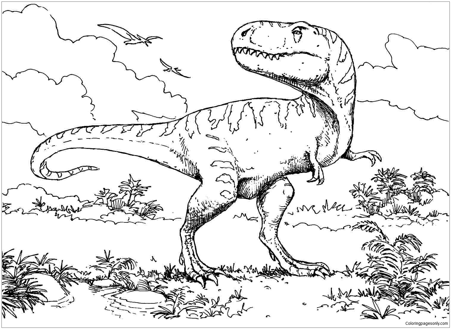 Camptosaurus Dinosaur 4 Coloring Page