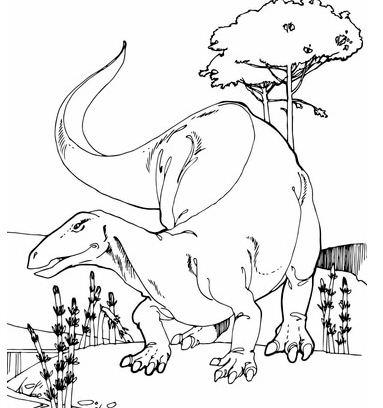 Camptosaurus Jurassic Dinosaur