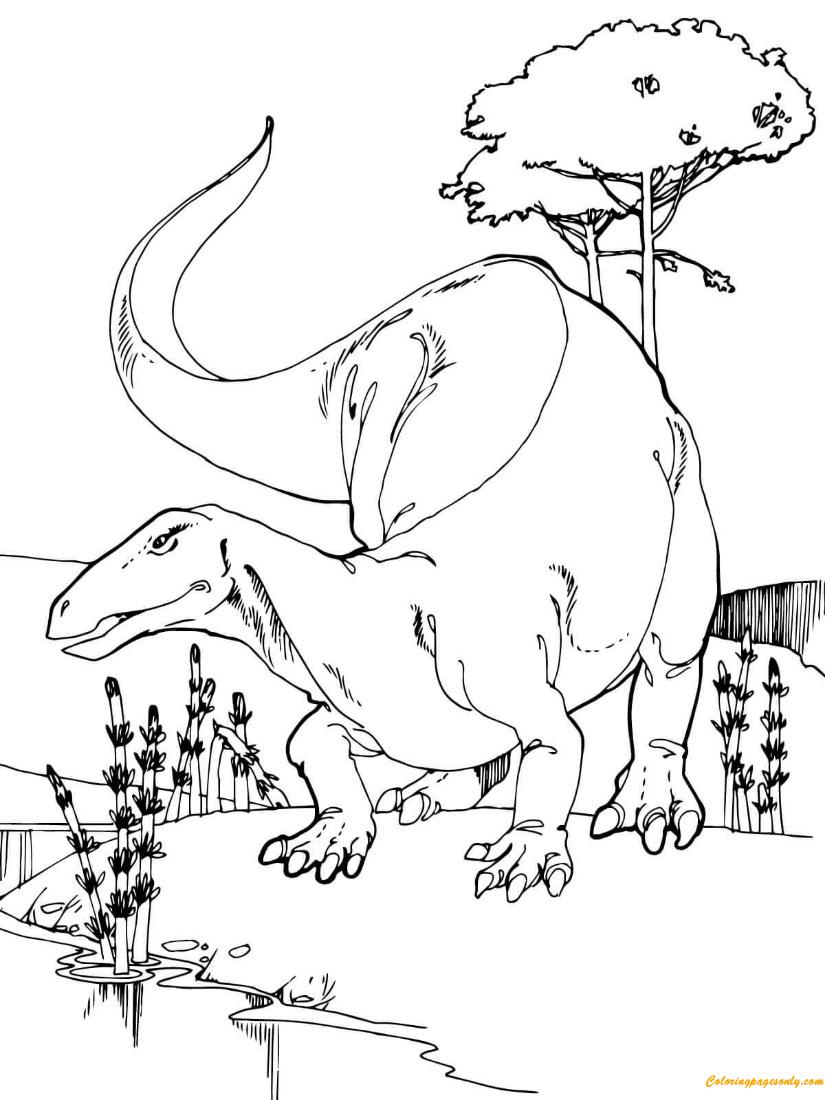 Camptosaurus Jurassic Dinosaur Coloring Page