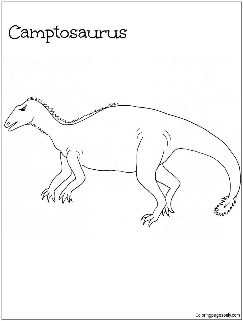 Camptosaurus Dinosaur Coloring