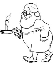 Candle Carried By Santa Claus