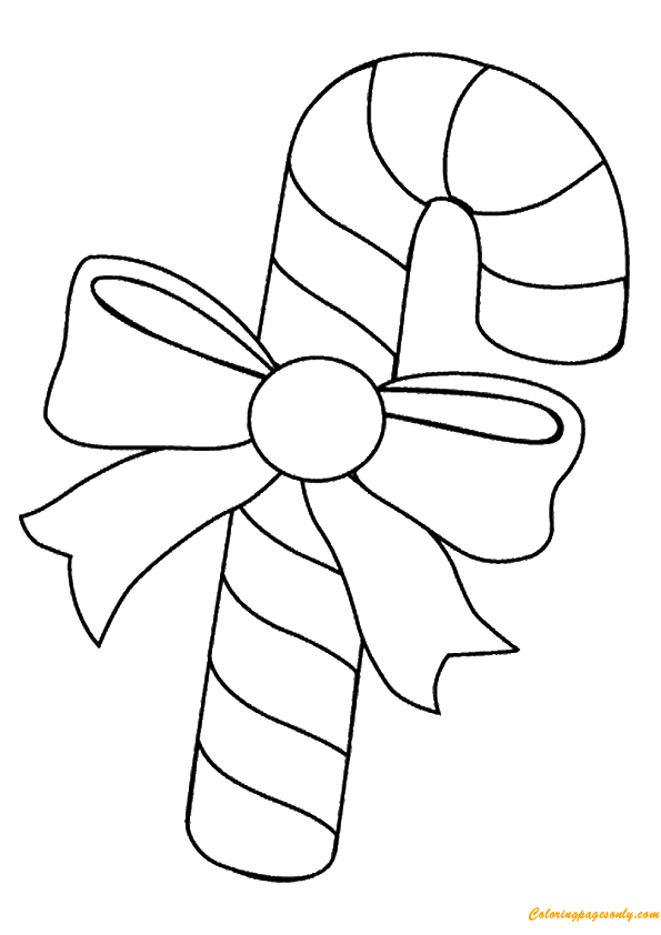 Candy Cane of Christmas Coloring Page - Free Coloring Pages ...