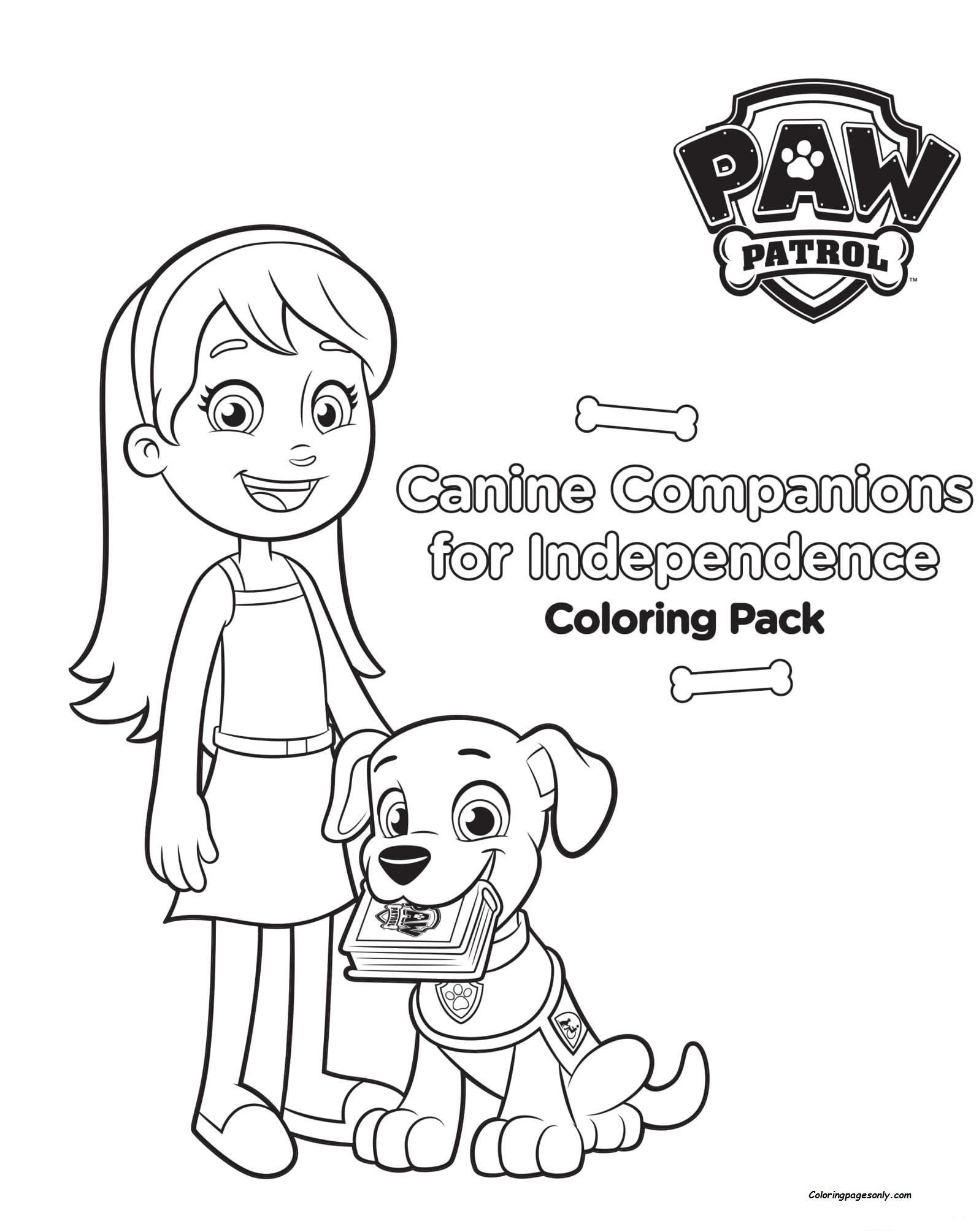 Canine Panions For Independence Coloring Pages Coloring