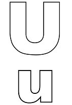 Capital And Small Letter U