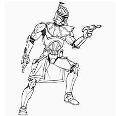 Captain Rex Star Wars Picture Coloring Page