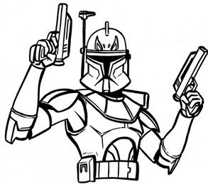 Captain Rex Star Wars Coloring Page