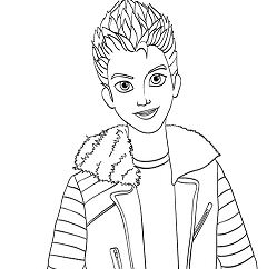 Disney Descendants Auradon Coronation Lonnie Coloring Page