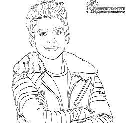 Carlos from Descendants Son of Cruella De Vil Coloring Page