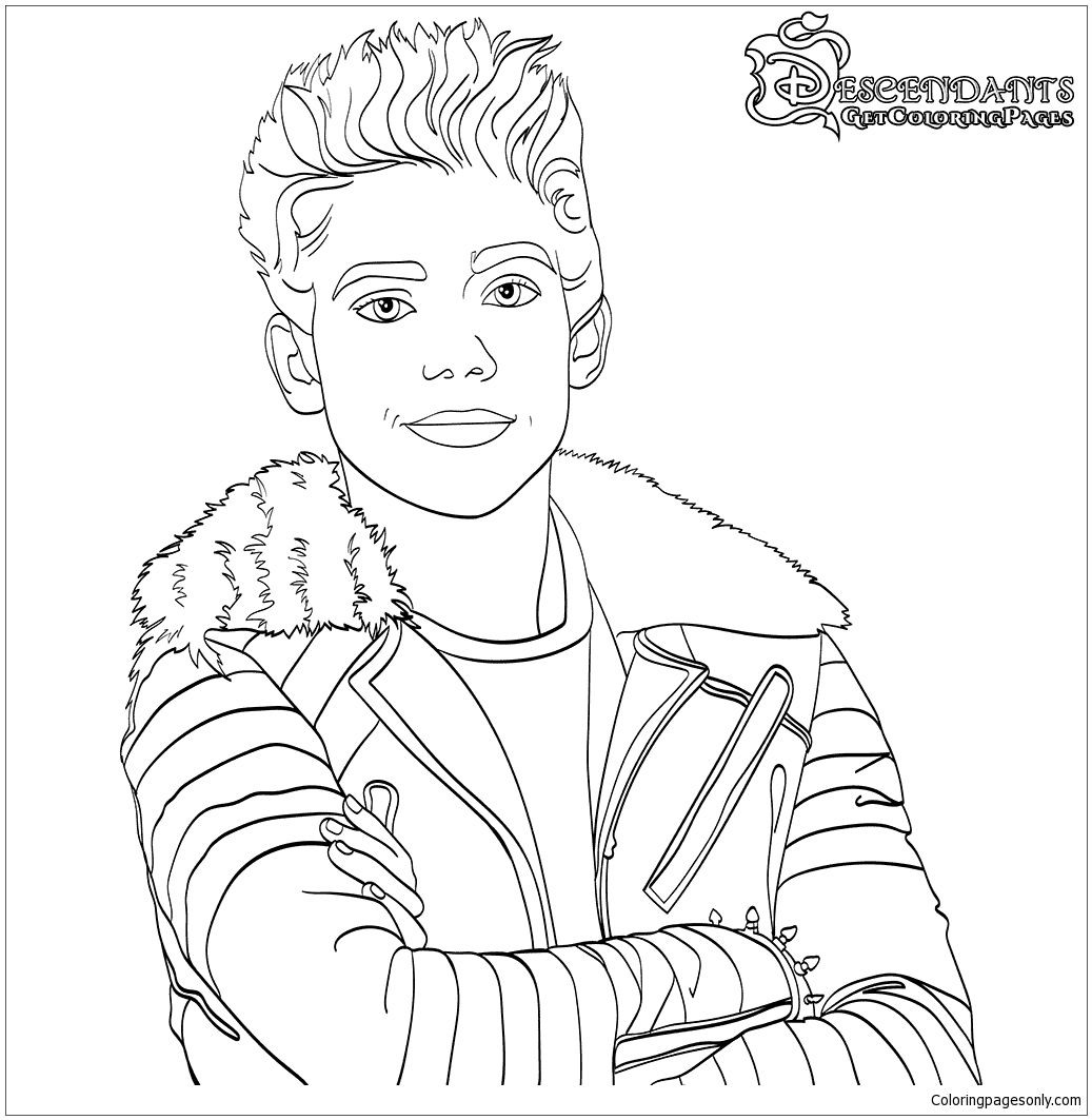 Carlos From Descendants Son Of Cruella De Vil  Coloring Page