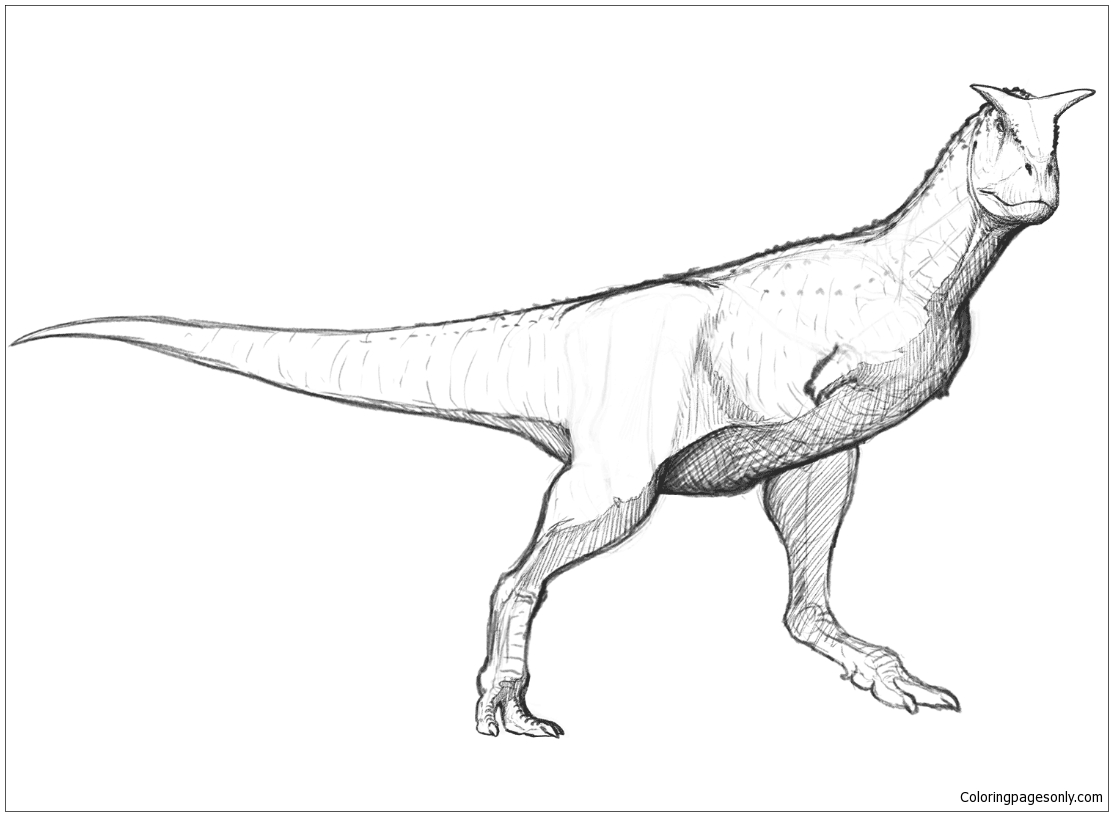 Carnotaurus Sastrei Coloring Page - Free Coloring Pages Online