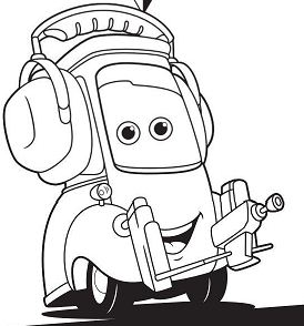 Cars 2 Movie Not Chuck Disney Coloring Page