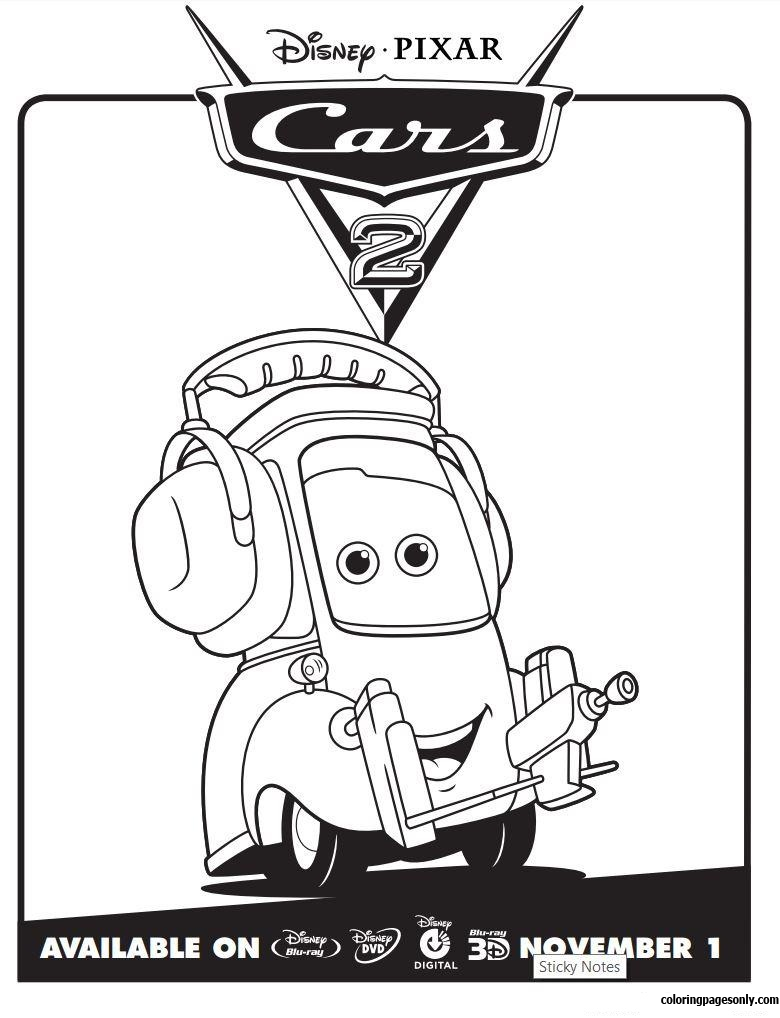 Disney Cars 2 Lightning Mcqueen Movie Coloring Page: http ... | 1018x780