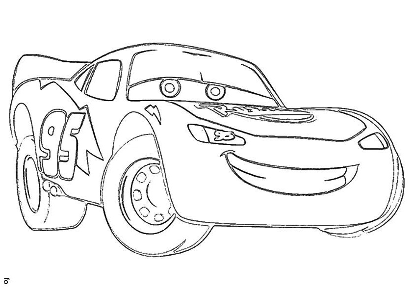 Cars Lightning Mcqueen Sad Coloring Page Free Coloring Pages Online