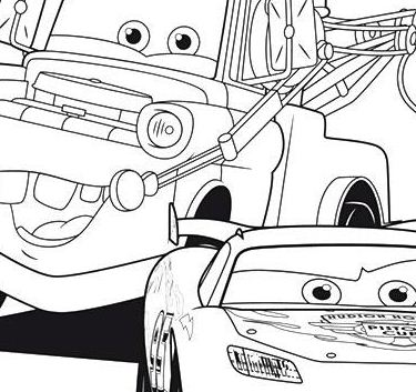 cars lightning mcqueen with friend a4 disney