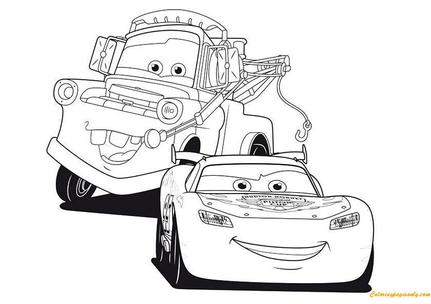 lightning mcqueen christmas coloring pages