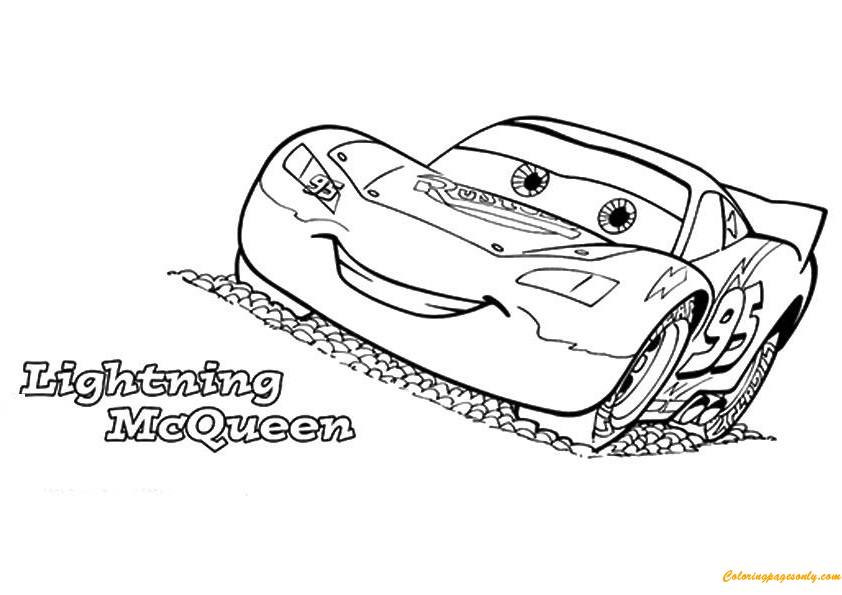 cars the lightning mcqueen coloring page - Lightning Mcqueen Free Coloring Pages