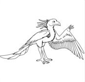 Cartoon Archaeopteryx Dinosaurs