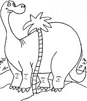 Cartoon Diplodocus