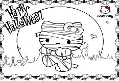 Cartoon Of Hello Kitty Halloween