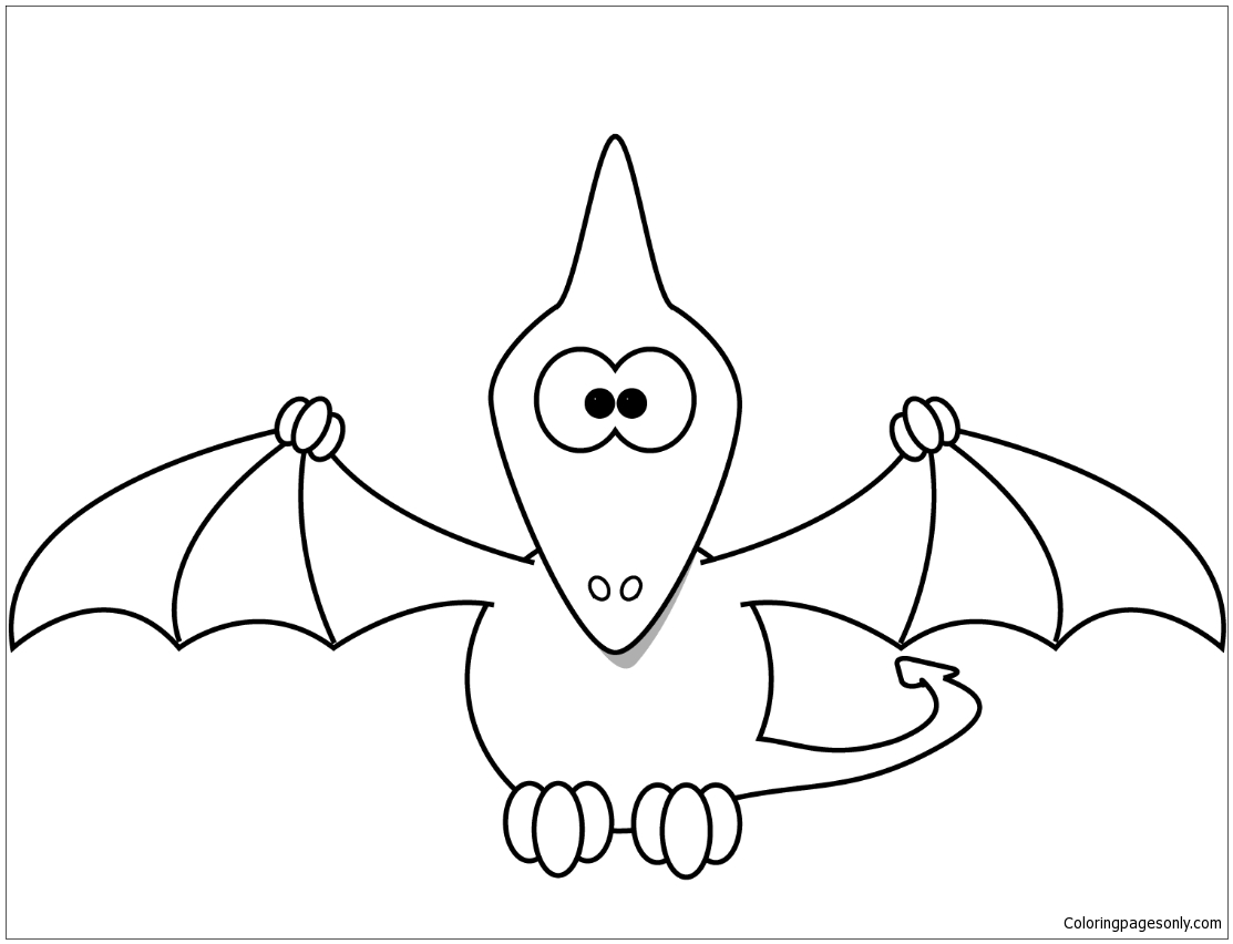 Cartoon Pterodactyl Coloring Page Free Coloring Pages Online