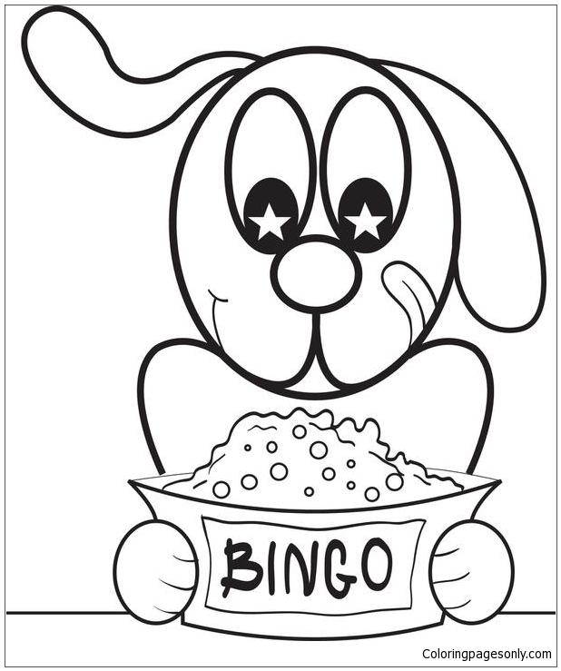 Cartoon Puppy Dog 1 Coloring Page