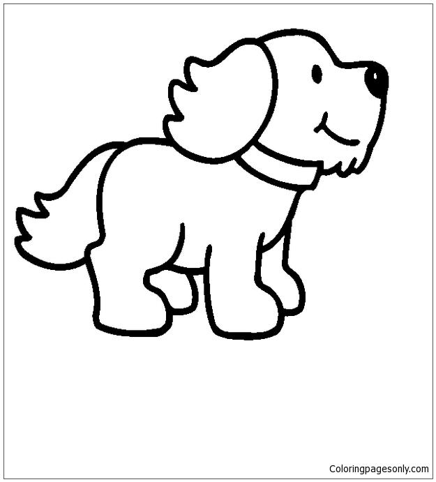 Cartoon Puppy Dog Coloring Page