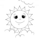 Cartoon Sun Character
