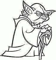 Cartoon Yoda – Star Wars Coloring Page