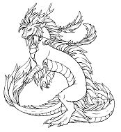 Cat Dragon 1 Coloring Page