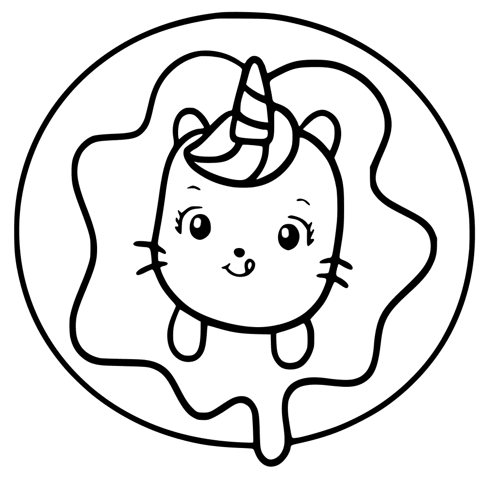 Cat Unicorn Circle