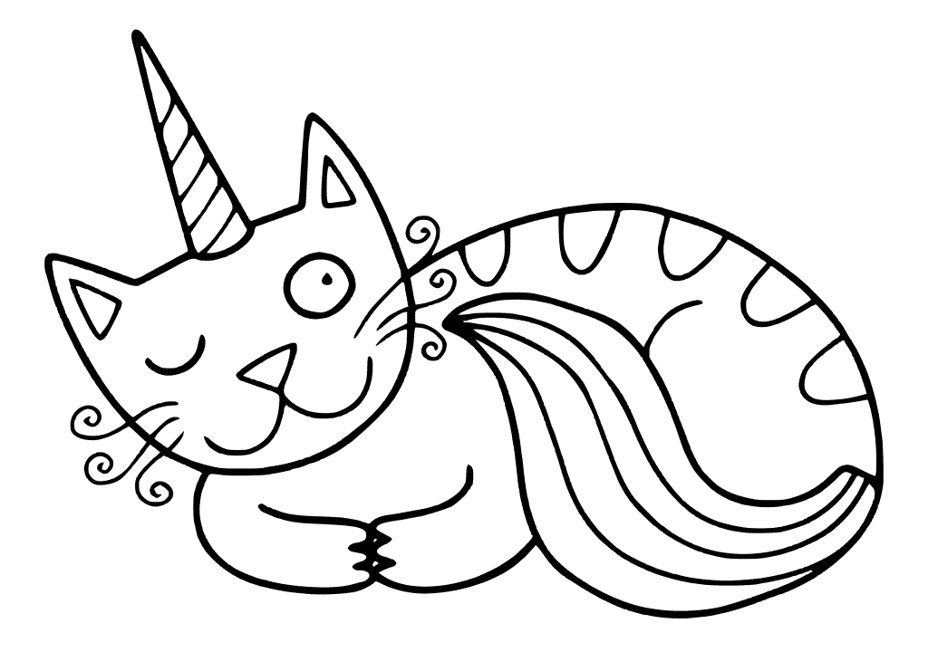 Cat unicorn winkles