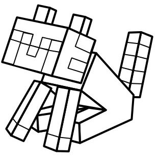 Minecraft Mooshroom Coloring Page Free Coloring Pages Online