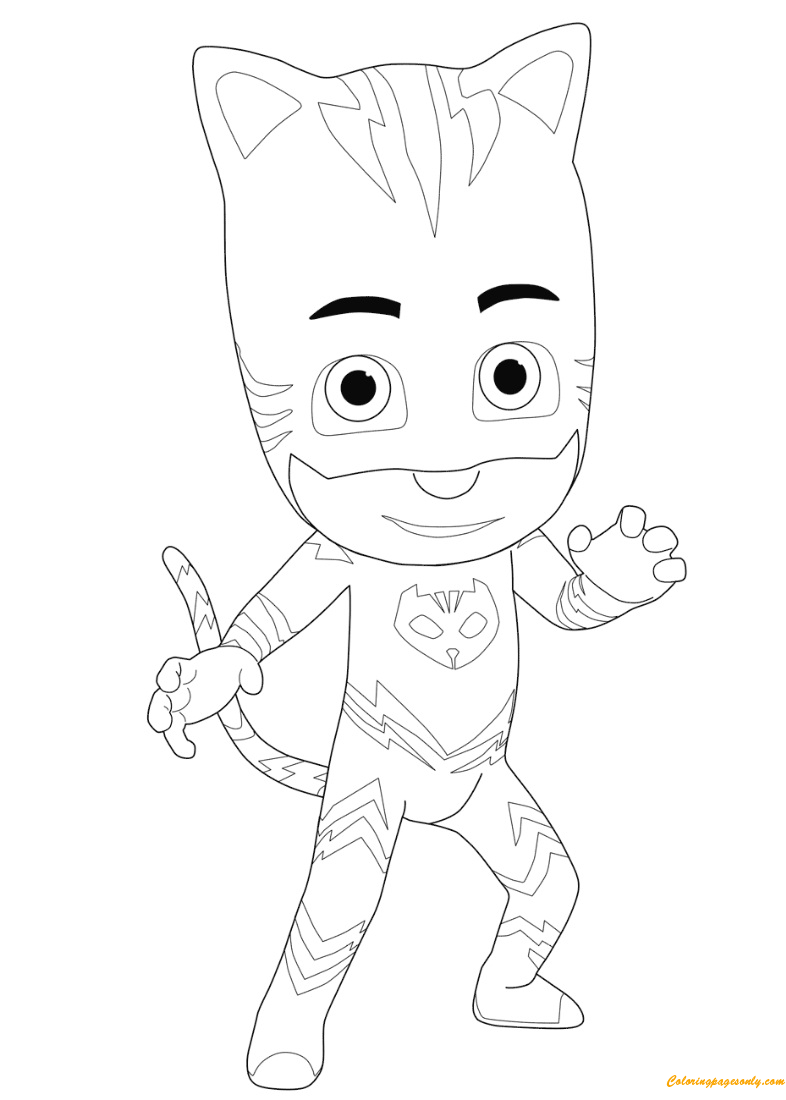 The Amazing Catboy From Pj Masks Coloring Page Free Coloring Pages