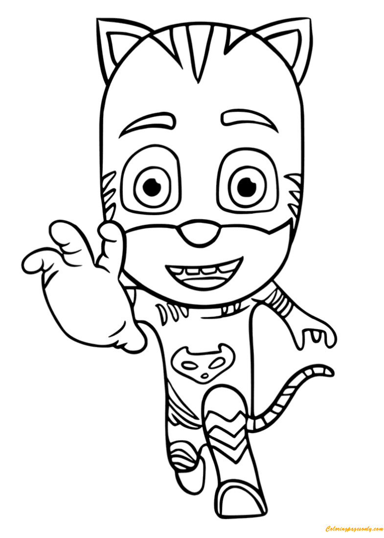 Catboy In The PJ Masks Show Coloring Page Free Coloring