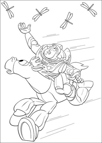Catch dragonfly Coloring Page