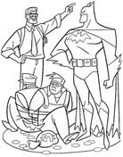 Batman caught two thieves from Batman Coloring Page