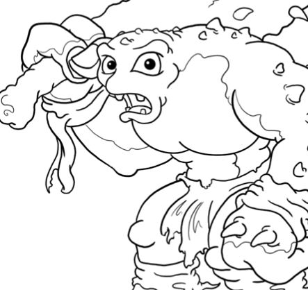 Cave Troll Drawings Coloring Page
