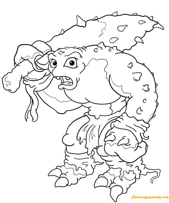 Cave Troll Drawings Coloring Page Free Coloring Pages Online