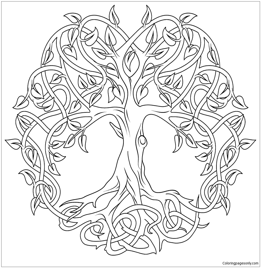 Celtic tree of life coloring page free coloring pages online for Celtic coloring pages printable